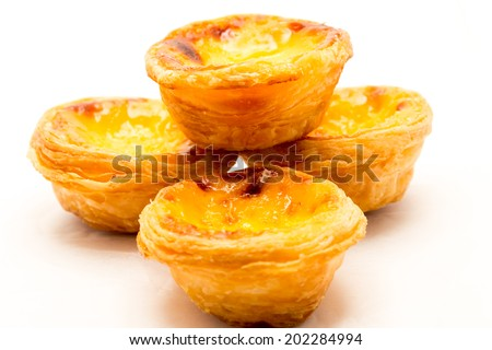 delicious chinese egg tart shooting in studio - stock photo