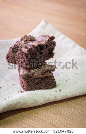 Delicious Chocolate Brownies - stock photo