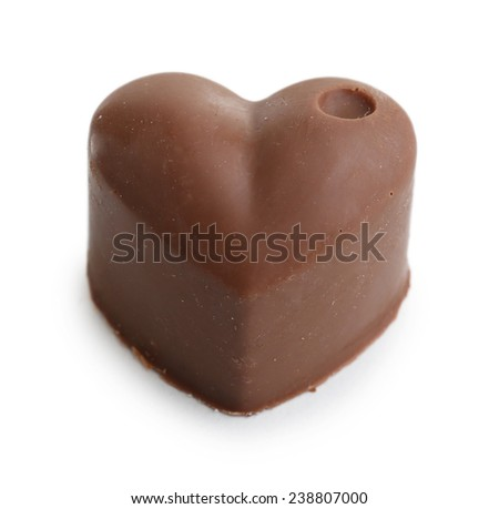 Delicious chocolate candy isolated on white - stock photo