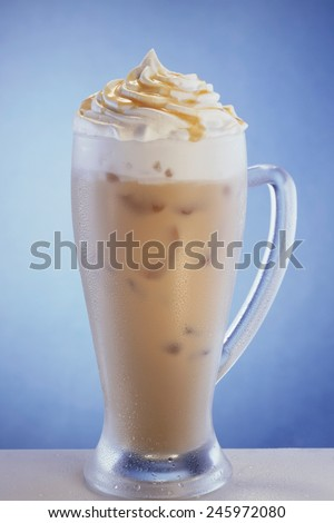 Delicious coffee cocktail - stock photo