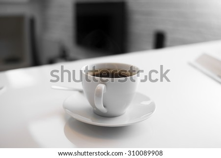 Delicious coffee on a white background