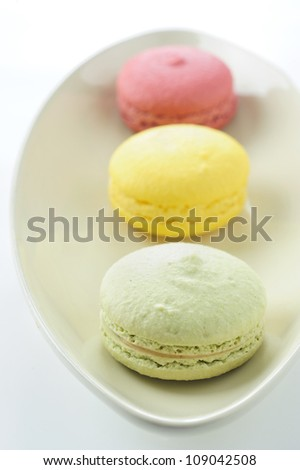 delicious colorful macaroons - stock photo