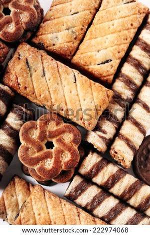 delicious cookies assorted - stock photo