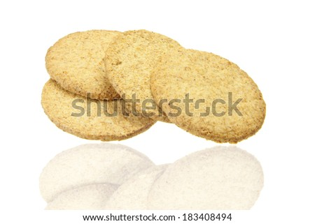 delicious cookies isolated on the white background