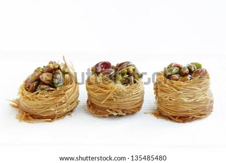Delicious crispy baklava - stock photo