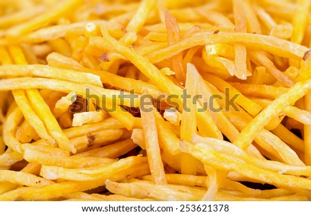 delicious Crispy fried Sweet Potato Stick - snack - stock photo