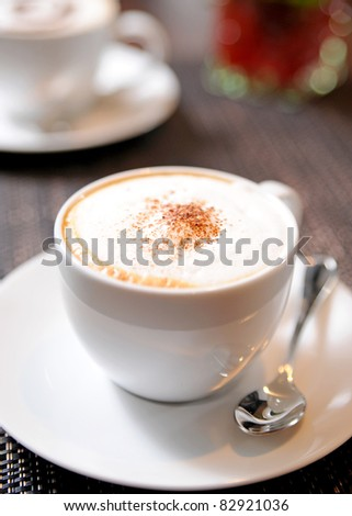 delicious cup of coffee - stock photo