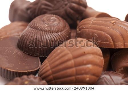 Delicious dark chocolate  - stock photo