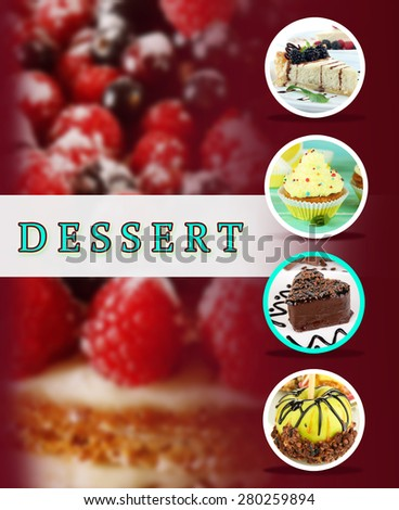 Delicious dessert menu - stock photo