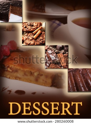 Delicious dessert menu - stock photo