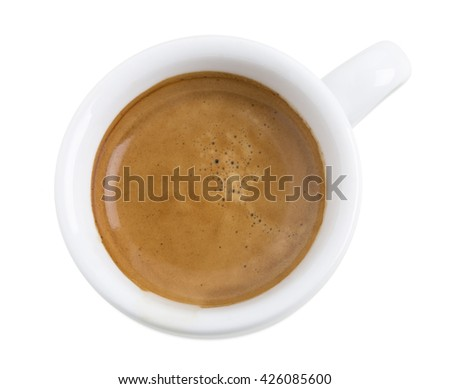 Delicious espresso.  Isolated on a white background. - stock photo