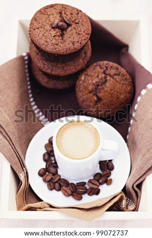 delicious espresso muffins - sweet food
