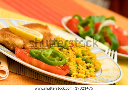 delicious food in a plate on the table