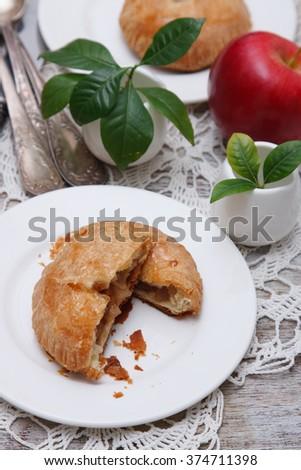 Delicious fresh baked apple pie - stock photo