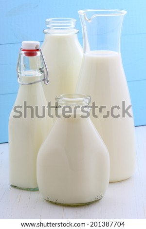 Delicious fresh milk, one of the primary sources of nutrition.