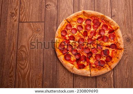 Delicious fresh pizza - stock photo