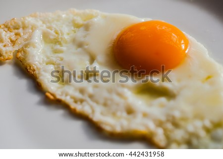 Delicious fried eggs for breakfast - stock photo