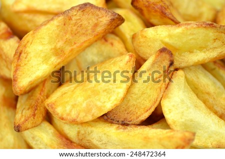 delicious fried potatoes  - stock photo