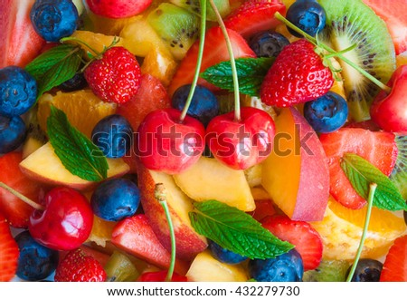 Delicious fruit salad   - stock photo