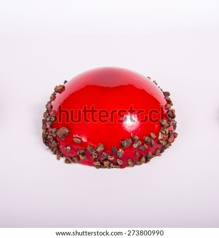 Delicious gelatin sweet with yoghurt filling - stock photo