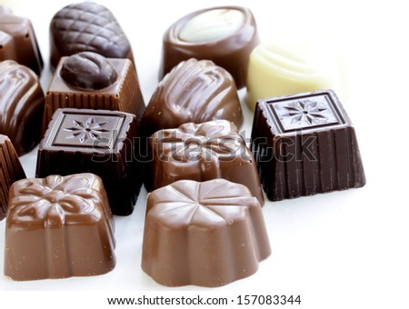 delicious gourmet chocolate candy  sweet present - stock photo