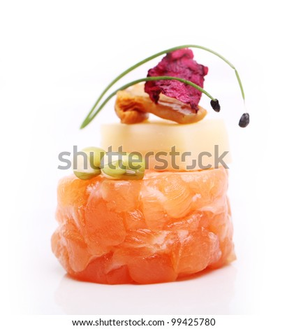 Delicious gourmet food on the table - stock photo