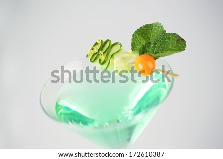 Delicious green and fresh cocktail