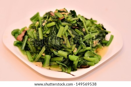 Delicious green vegetable dish