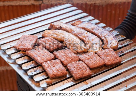 Delicious grill - enhanced colors - stock photo