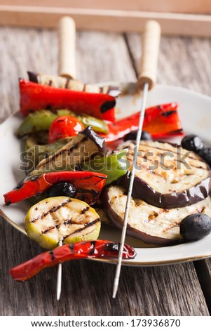 Delicious grilled vegetables - stock photo