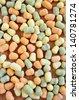 Delicious hand made colourful Gnocchi - stock photo