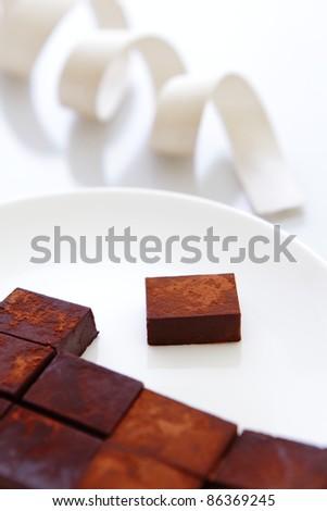 delicious handmade sweet chocolate - stock photo