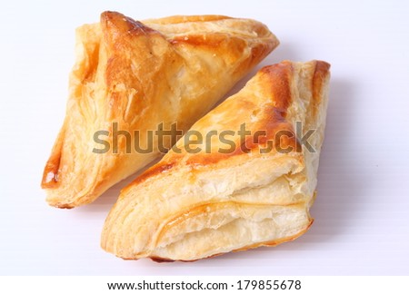 delicious homemade pies on a white background