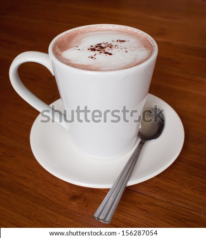 Delicious hot chocolate - stock photo
