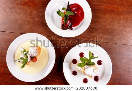 Delicious hungarian dessert - stock photo