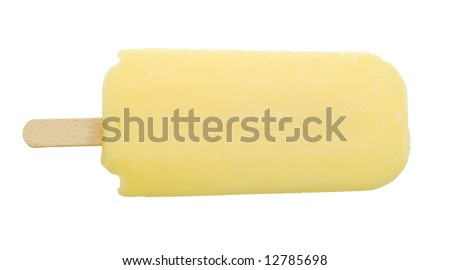 delicious icecream isolated on a white background - stock photo