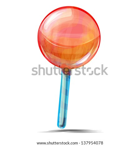 Delicious lolly pop isolated on white - stock photo