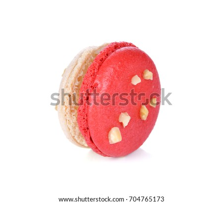 Delicious macaroon on a white background