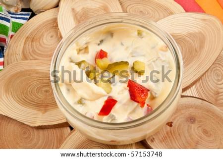 Delicious Mayonnaise Salad Dressing - stock photo