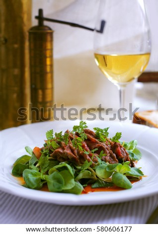 delicious meat salad