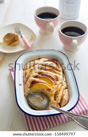 Delicious nectarine and almond pie
