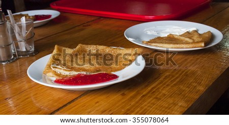 delicious pancakes - stock photo