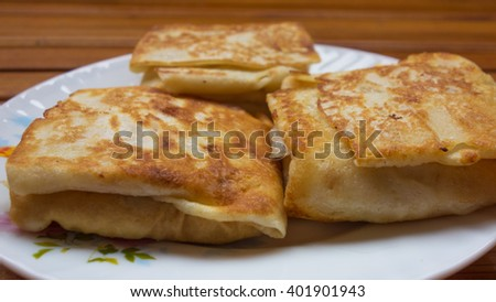 Delicious pancakes with cottage cheese