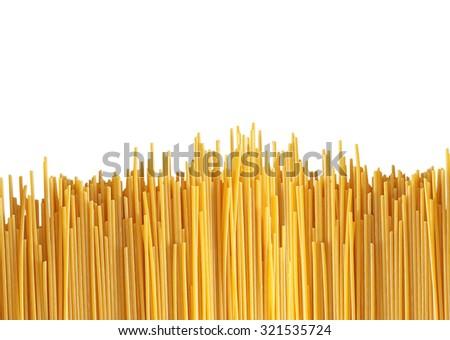 Delicious pasta isolated on white - stock photo