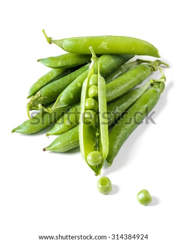 Delicious peas on the table - stock photo