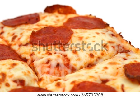 delicious pepperoni pizza on white background
