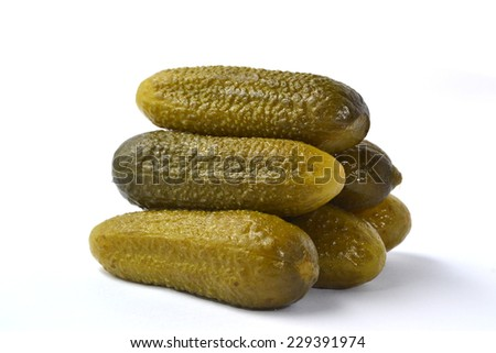 delicious pickled on white background - stock photo