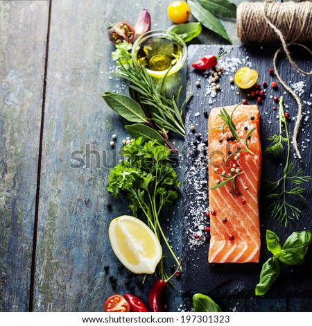Salmon stock images royalty free images vectors for Aromatic herb for fish