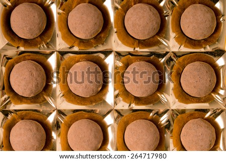 delicious pralines in a box / Pralines - stock photo