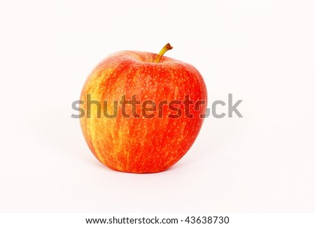 Delicious red apple isolated on white